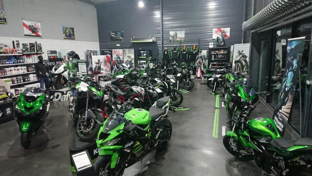 Un espace pour la gammes Kawasaki